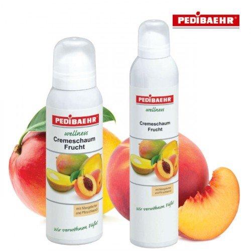 Kāju putojošs krēms ar mango-persiku Pedibaehr Wellness Cremeschaum, 300ml