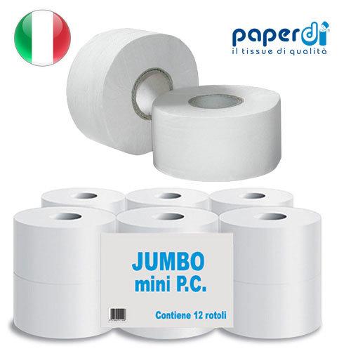 Tualetes papīrs Paperdi Super Jumbo 2 kārtas, 9.7cm bez perforācijas, 1 rullis