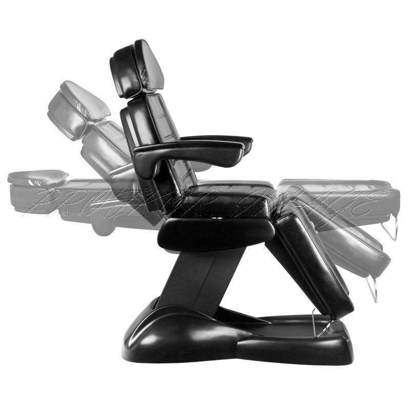 Kosmetoloģiskais krēsls LUX BLACK ar 3 motoriem, ar turētāju
