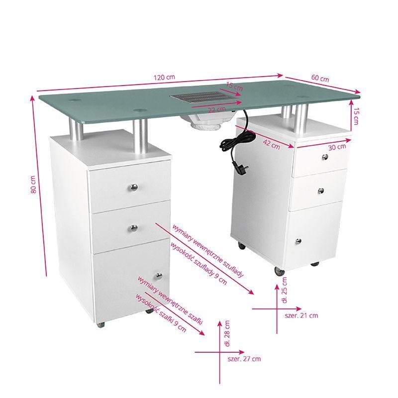 Kosmētiskais galds ar absorbētāju, melns