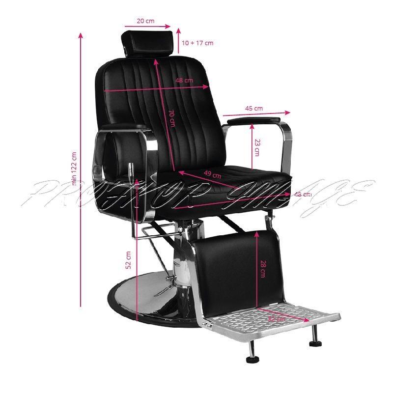 Barber krēsls PATRIZIO, melns