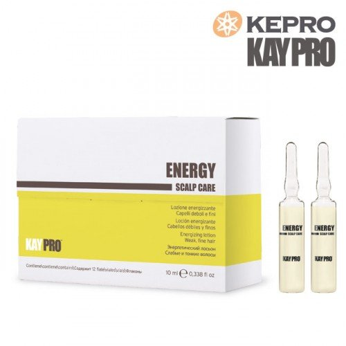 Losjons plāniem matiem Kepro Kaypro Energy Scalp care, 10mlx12gb
