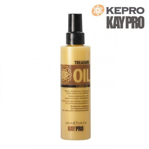 kondicionieris Kepro Treasure Oil 5 luxury oils divfāžu, 200ml
