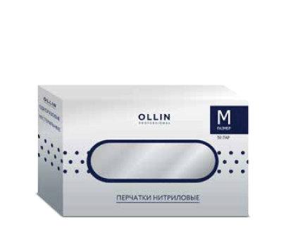 OLLIN vinila vienreizējās lietošanas cimdi, bez pūdera, M izmēra, bezkrāsaini, 100gab