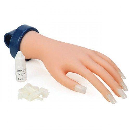 Manikīras rokas modelis ar timpšiem un līmi