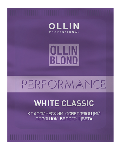 Baltais klasiskais pulverveida balinātājs OLLIN Blond Performance White Classic, 30gr