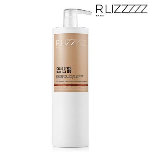 Barojošs šampūns RLizz Cacao Brazil Max Lizz 100 Extreme Nourishing Shampoo, 1L