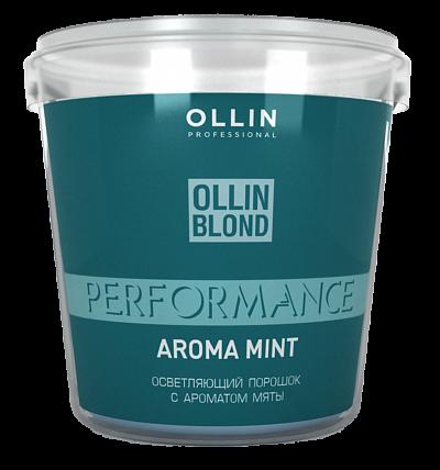 Pulverveida balinātājs ar piparmētru aromātu OLLIN Blond Performance Aroma Mint, 500gr