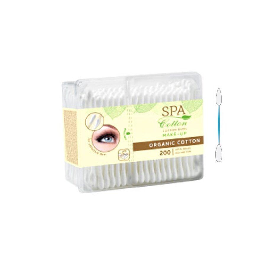 Vates kociņi SPA Cotton Organic make-up, 200gab
