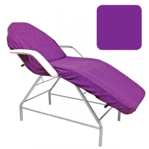 Frotē pārvalks kušetei-violets