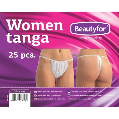 Sieviešu stringi Beautyfor, balti, 25gab