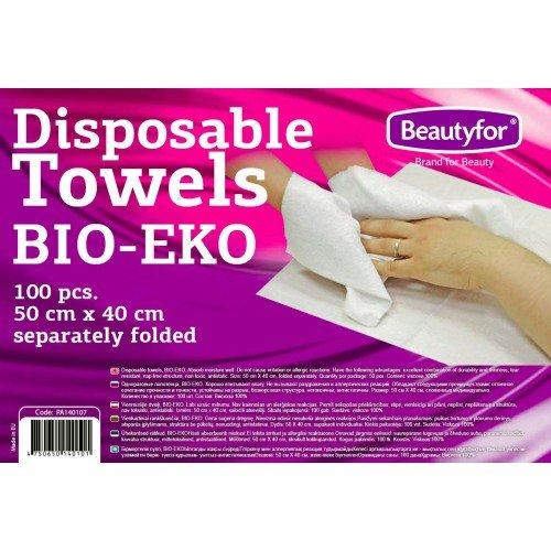 Vienreizējie dvieļi, BIO-EKO Beautyfor, 50сm x 40cm, 100gab