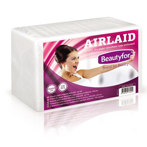 Beautyfor sausais papīrs, Airlaid, 100gab