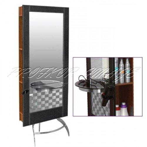 Spogulis frizētavai 132B melns