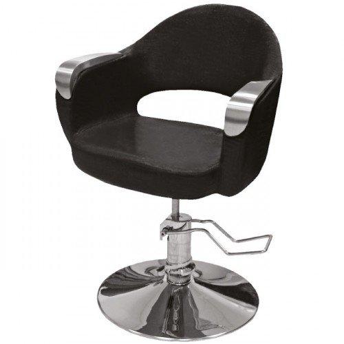 Hidraulisks klienta krēsls frizētavai, melns 356-1
