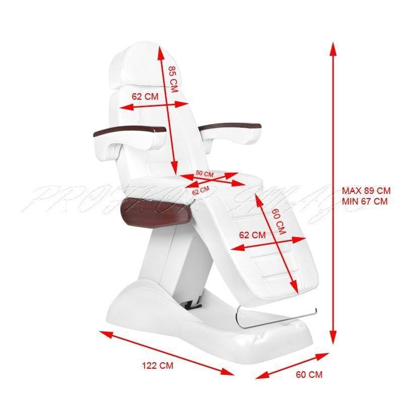 Kosmetoloģiskais krēsls LUX MAHON ar 3 motoriem