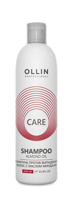 Šampūns pret matu izkrišanu ar mandeļu eļļu OLLIN Care Almond oil Shampoo, 250ml