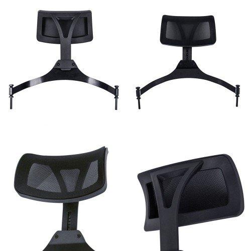 Grima krēsls ar galvas balstu, melns KC-CH03