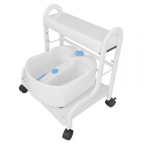 Pedikīra ratiņi ar vanniņu, baltā krāsa SPA-103