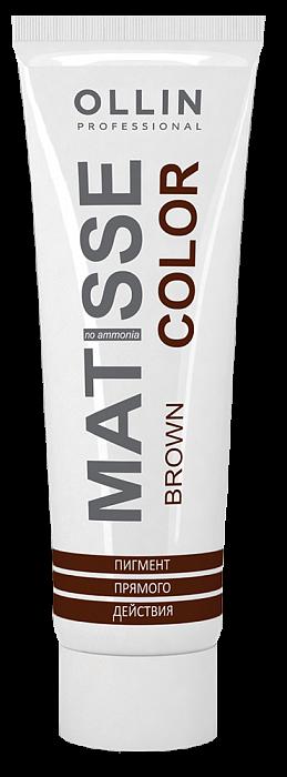 Brūns tiešas iedarbības pigments OLLIN Matisse Color Brown, 100ml