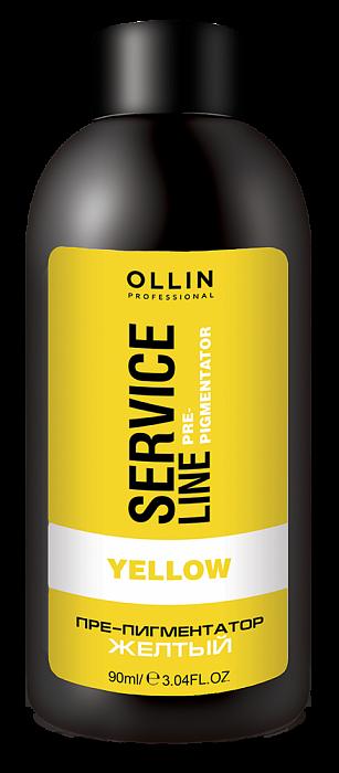 Dzeltens pigmentācijas fluīds OLLIN Srvice line Yellow Fluid Pre-Color, 90ml