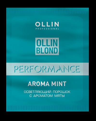 Pulverveida balinātājs ar piparmētru aromātu OLLIN Blond Performance Aroma Mint, 30gr