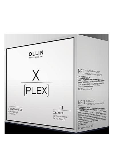 Komplekts OLLIN X-PLEX: №1 X-Bond Booster aktivators, 1х250ml; №2 X-Sealer pastiprinatājs, 2х250ml