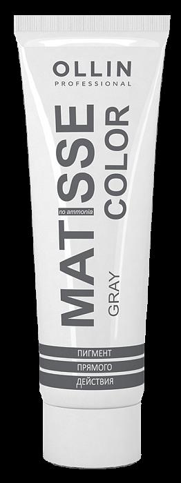 Pelēks tiešas iedarbības pigments OLLIN Matisse Color Gray, 100ml