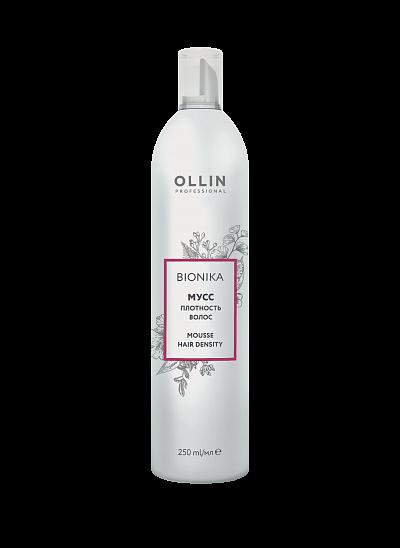 Matu putas mazu biezuma palielināšanai OLLIN Bionika Mousse hair density, 250ml