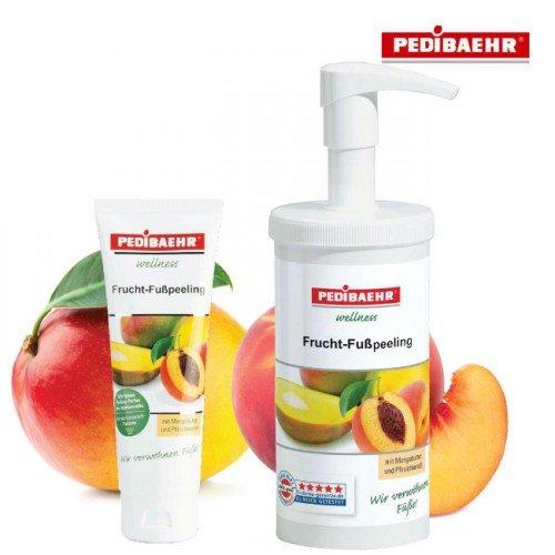 Kāju pļings ar mango-persiku Pedibaehr Wellness Frucht-Fußpeeling, 450ml