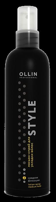 Losjons matu veidošanai vidēji stipras fiksācijas OLLIN Style Lotion- spray Medium, 250ml