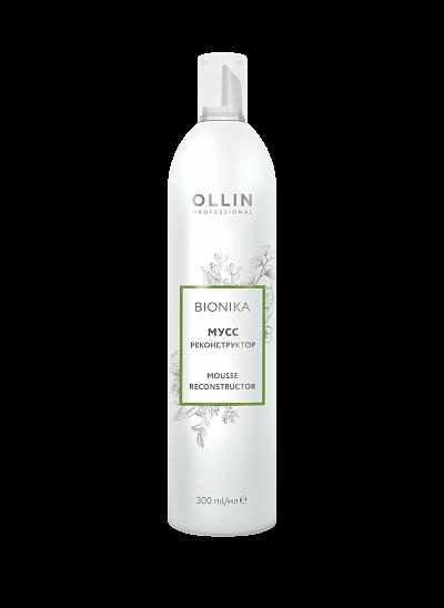 Rekonstrukturējošas matu putas veidošana OLLIN Bionika Mousse reconstructor, 300ml