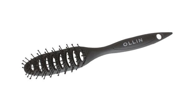 OLLIN plastmasas matu suka, matu veidošanai, ovāla