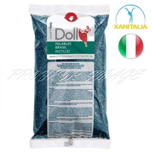Karstais azulēna depilācijas vasks DOLL PELABLES BRASIL, 1kg