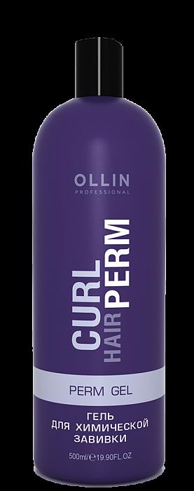 Želeja ķīmiskiem ilgviļņiem+ instrukcija+ aplikators OLLIN Curl hair Perm Gel, 500ml
