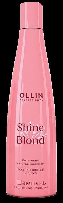 Šampūns gaišiem matiem ar ehinācijas ekstraktu OLLIN Shine Blond Echinacea Shampoo, 300ml