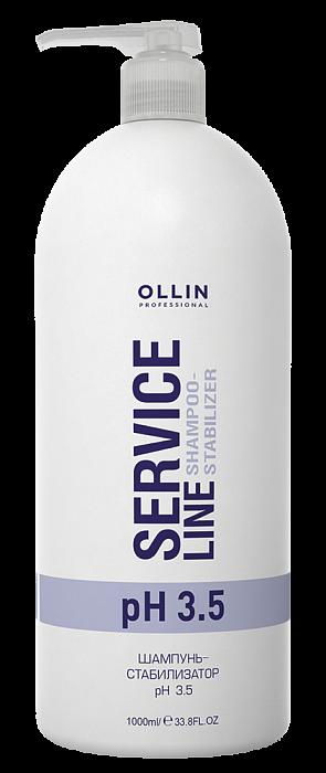 Šampūns, stabilizators OLLIN Service Line Shampoo Stabilizer PH 3.5, 1L