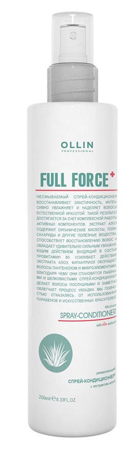 Mitrinošs izsmidzināms kondicionieris ar alvejas ekstraktu OLLIN Full Force, 250ml