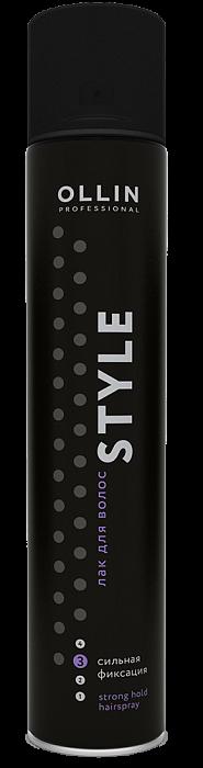 Matu laka stipras fiksācijas OLLIN Style Strong hairspray, 500ml