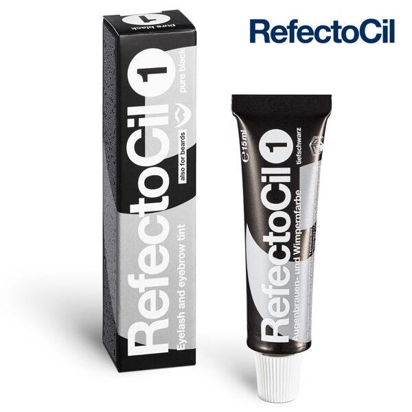 Melna krāsa skropstām-uzacīm RefectoCil 1 Pure Black, 15ml