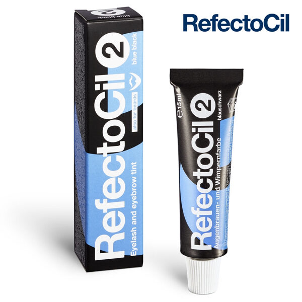 Zili melna krāsa skropstām-uzacīm RefectoCil 2 Blue Black, 15ml