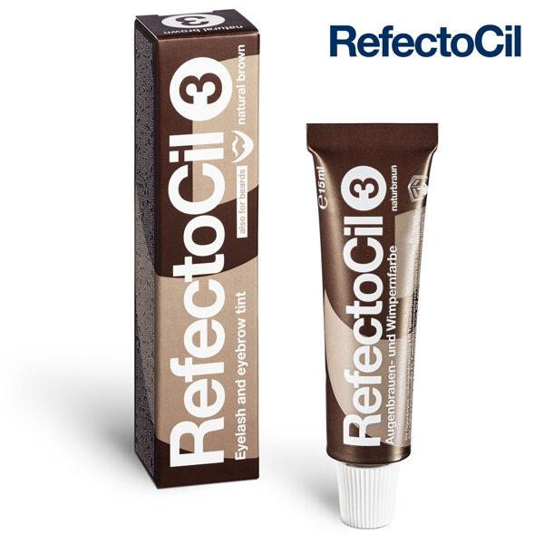 Brūna krāsa skropstām-uzacīm RefectoCil 3 Natural Brown, 15ml