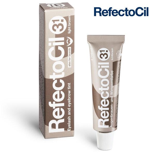 Gaiši brūna krāsa skropstām-uzacīm RefectoCil 3.1 Light Brown, 15ml