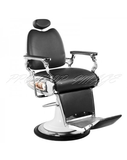 Barber krēsls MOTO STYLE, melns