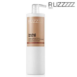 Matu keratīns RLizz Cacao Brazil Max Lizz 100 Keratin hair treatment curly force 2, 1L