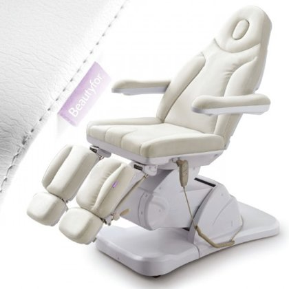 Pedikīra krēsls ar 3 motoriem, balts