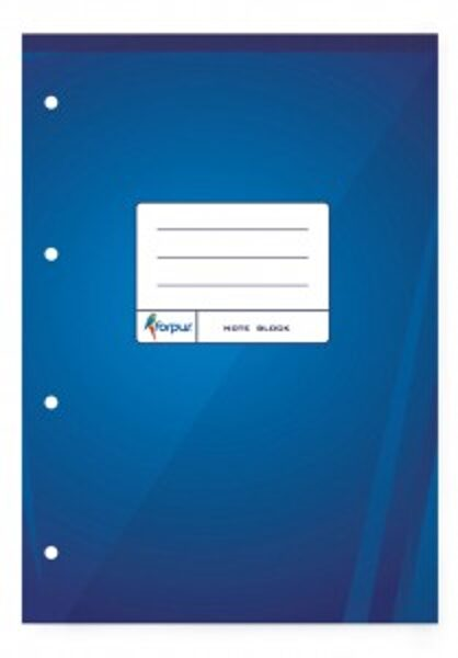 Bloknots Forpus A4, 70 lpp rūtiņu, zilos vākos ar perforāciju
