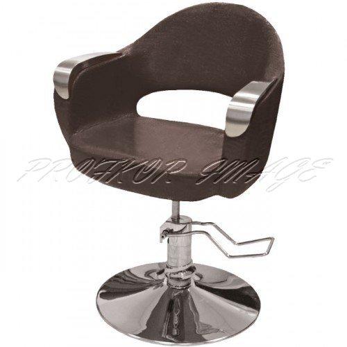 Hidraulisks klienta krēsls frizētavai, brūns 356-1