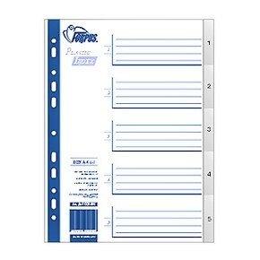 Sadalītājs dokumentiem FORPUS 1-5 plastikāta A4