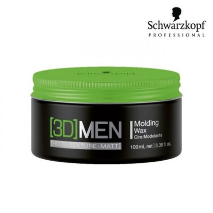 Matu vasks Schwarzkopf 3D Men Molding Wax, 100ml